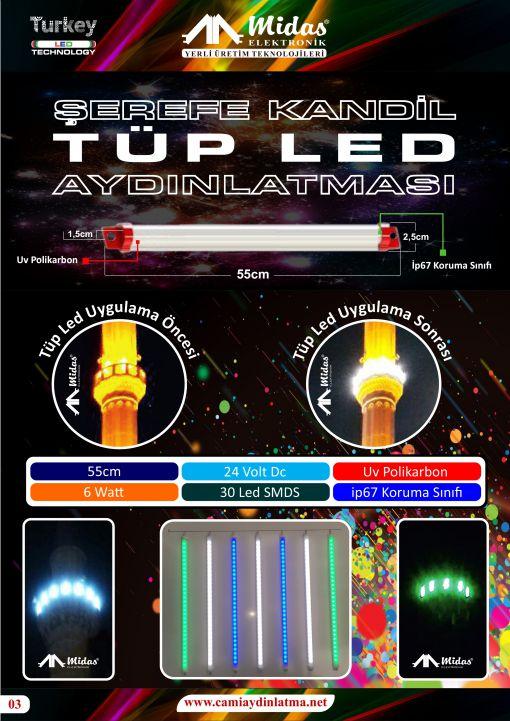 tüp led polikarbon linear led